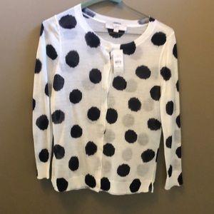 Loft sweater cardigan NWT xs